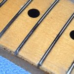 The top surface of each fret marked with a Sharpie